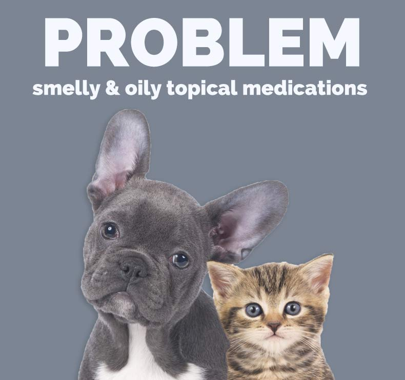 Problem: Strong-smelling or oily topicals